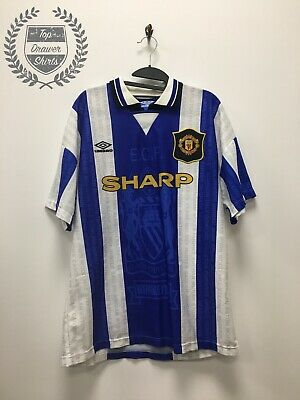 Manchester United third 3rd football shirt 1994/1996 Men's Large