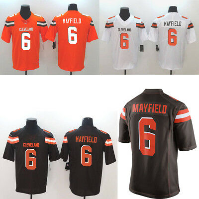 buy popular e9c73 11bda NEW MEN'S CLEVELAND Browns Baker Mayfield Jersey Brown/White/Oragne Size  M-3XL