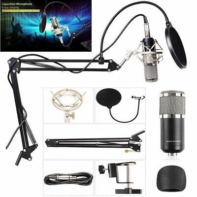 BM800 Audio Vocal Studio Condenser Microphone Kit Arm Stand Shock Mount HA