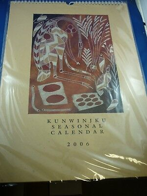 Frame the ( Unopened) KUNWINJKU SEASONAL 2006 Calendar ( by INJALAK )