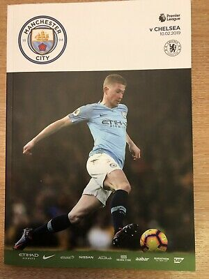 Manchester City v Chelsea Official Matchday Programme 10/2/19