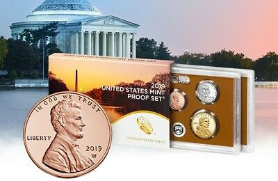 2019 Proof set Deep Cameo Clad Proof Set W/ W Minted Cent First Time W Mint 1C
