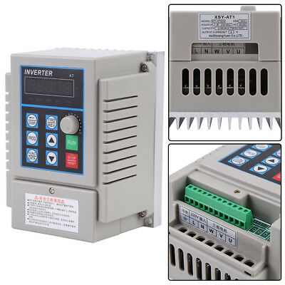 5A Single Phase 3PH Variable Speed Drive Frequency Inverter Converter 220V 750W