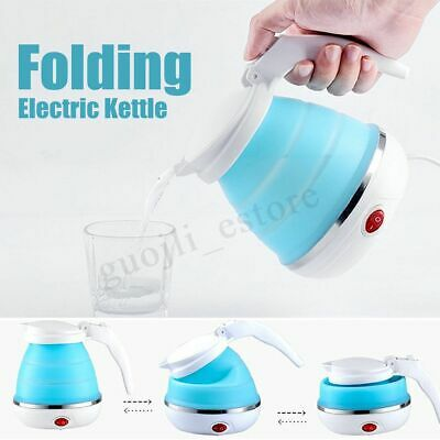 Electric Foldable Collapsible Silicone Water Kettle Folding Boiler Sport Travel