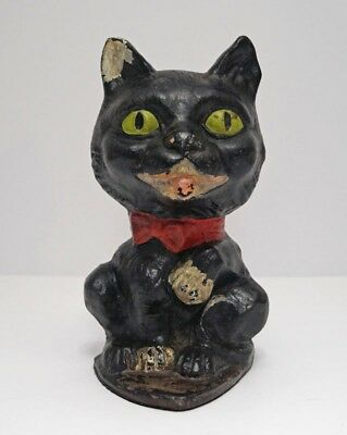 ANTIQUE CAT W/ PAW UP CAST IRON DOORSTOP EASTERN SPECIALTY MFG. CO. CA. 1920's