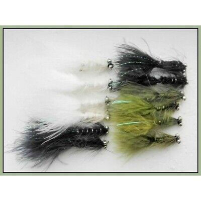 Sinking Trout Flies Mixed Size 8//10 8 White Dog Nobbler Fishing Fly