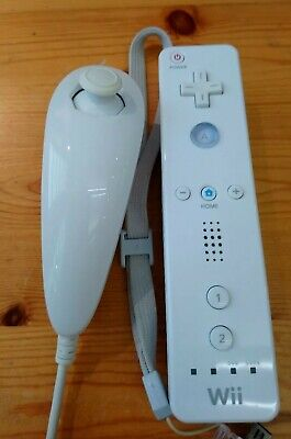 White Wiimote With Nunchuck Authentic Remote Controller For Nintendo wii OEM