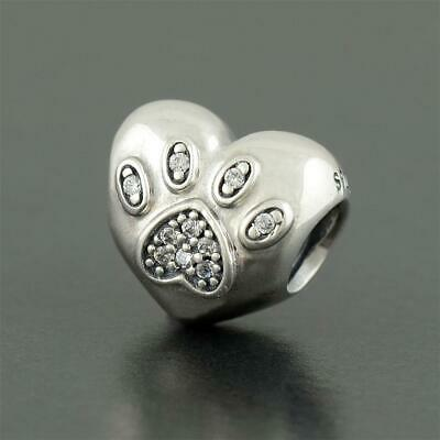 2ff60a9a5 AUTHENTIC PANDORA SILVER NEW I Love My Pet Charm 791713CZ - $23.90 ...