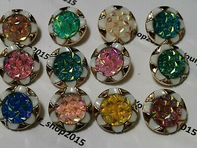 Buttons Assorted Rhinestone Flower Art Craft Sewing Card Scrapbook Dress Making.