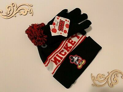 Disney Mickey Mouse Hat and Gloves Cold Weather Set, Little Boys, Age 4-7