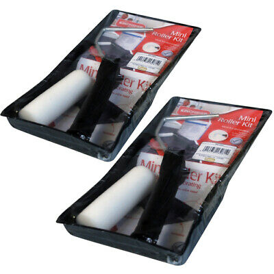 2 x Mini Roller and Tray Painting Decorating Sets