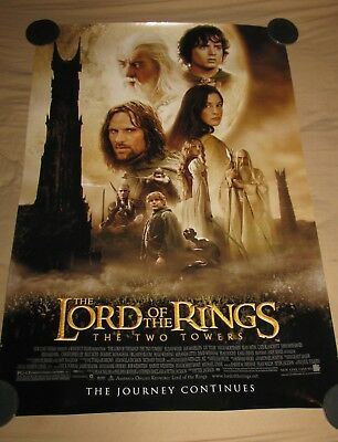 LORD OF THE RINGS TWO TOWERS MOVIE POSTER 1 Sided ORIGINAL FINAL 27x40