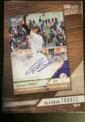 2019 Topps Series 1 2018 Topps Now Review #TN-4 Gleyber Torres