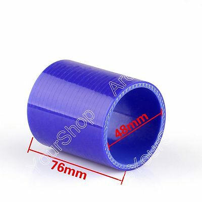 Straight 0 Degree 76/48mm Silicone Pipe Hose Coupler Intercooler Turbo Intake B2