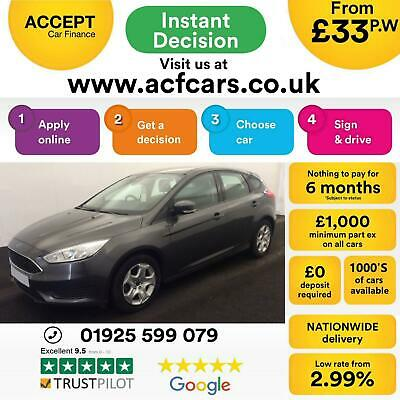 2015 Grey Ford Focus 1.6 Ti-Vct 105 Style Petrol Manual 5Dr Car Finance Fr £33Pw