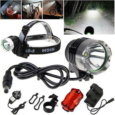 CREE XM-L T6 LED 6000 LM Vélo Light Phare Bicyclette Lampe Frontale Rechargeable