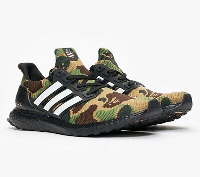 excellent quality lace up in the best attitude BAPE X ADIDAS Ultra Boost Green Camo Men's US Size 10.5 DS ...