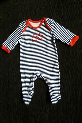 Baby clothes UNISEX BOY GIRL premature/tiny<6lbs/2.7kg navy,red, stripe babygrow