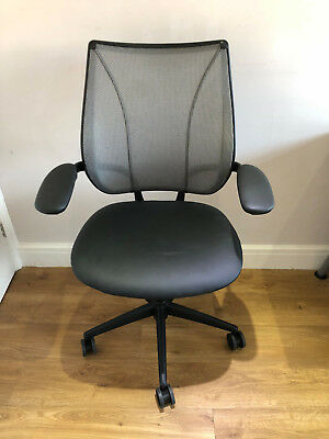 Silver Mesh Humanscale Liberty Ergonomic Office Task Chairs.free Uk Delivery