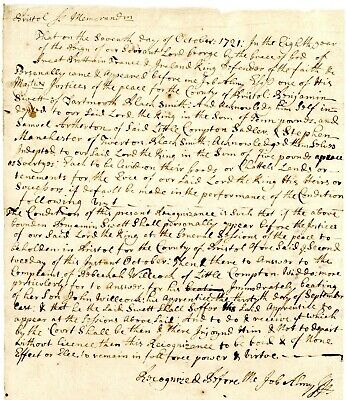 1721 Col-Amer-Doc> BLACKSMITH (FOR BEATING AN APPRENTICE WITH A CROWBAR) A NO NO