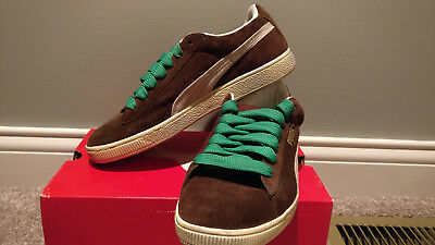 6c2860077531 PUMA MY SUEDE Sneakers lifestyle Brown fat laces b-boys style shoes MENS  SIZE 10