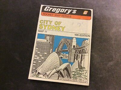 Gregory's Pocket Map - City of Sydney - 16th Edition - 1981