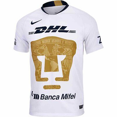 2018 PUMAS DE UNAM team signed NIKE gold soccer jersey with REAL ... 7c5d4a98c