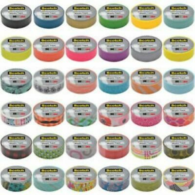 "3M Scotch Expressions Washi Tape Rollos .59"" Vendido por Rollo Individual"