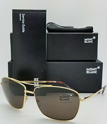 48339f081e New Mont Blanc sunglasses MB548S 30E Gold Brown Zeiss Lenses AUTHENTIC 30E   495