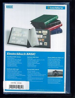 New Lighthouse Hardcover 32 Page Basic Stamp Collector Album Stockbook - Blue