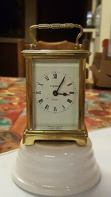 Antique Brass French 8 Day, 9 Jewels Bayard Duverdrey & Bloquel Carriage Clock