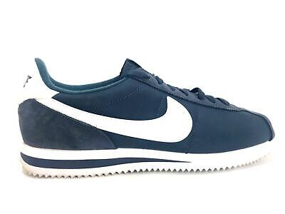 promo code 8e519 65224 Nike Cortez Basique Nylon Obsidienne   Blanc Homme Taille 9.5 Chaussures  Course