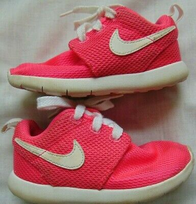 buy online fc271 67a4f TODDLER GIRLS NEON Pink NIKE ROSHE ONE Athletic Sneakers Shoes Sz 8 C