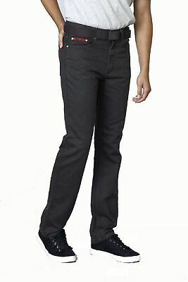 Duke London Mens Big Size Bedford Cord Enzyme Washed Jeans (Canary) in Charcoal