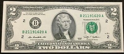 $2 Dollars Bill Series 2009 (New York) Federal Reserve Note