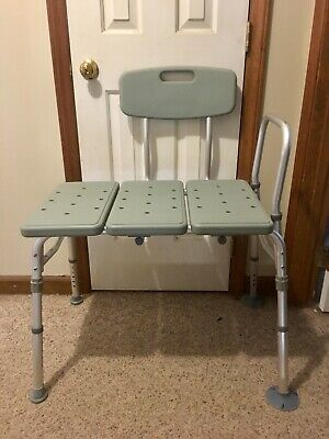 New Drive Medical Plastic Tub Transfer Bench with Adjustable Backrest 12011KD-1