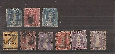 NATAL  QV  9 stamps used