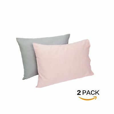 TILLYOU Cotton Collection Soft Toddler Pillowcases Set of 2, 14x20 - Fits Pil...