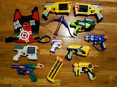 Nerf Gun and Accessory Assortment Cheap Lot of 12 Items