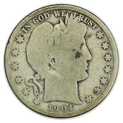 1904-S Barber Half Dollar, Large, Early Type, Silver Coin [4086.13]