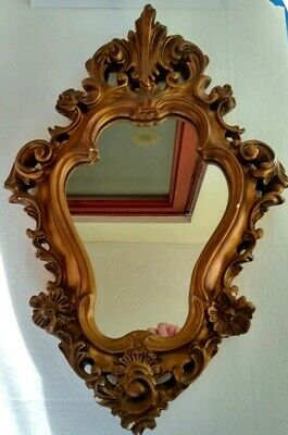 Antique Art Nueveau Style Gilt Plaster wall hanging Mirror in good condition