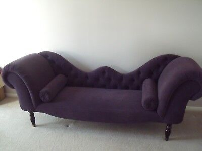 Lovely rare antique double-ended chaise longue