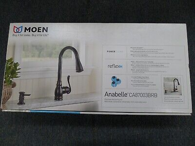MOEN ANABELLE CA87003BRB Pulldown Kitchen Faucet Power Clean ...