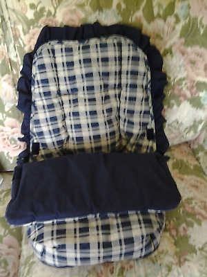 Baby nest/Cosytoes, blue/ beige check print snugly,warm