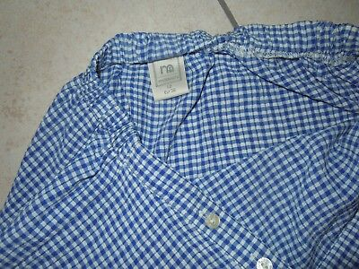 MOTHERCARE MATERNITY Blue Check Wrap-Around Skirt Size 12