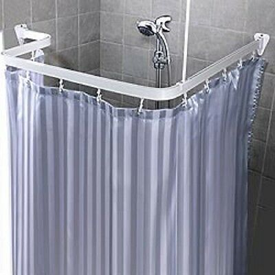 Bendable Shower Curtain Rod Clawfoot Bath Tub Curved Chrome By