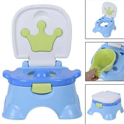 3-in-1 Portable Kid Potty Training Toilet Seat Step Stool Chair for Baby Toddler