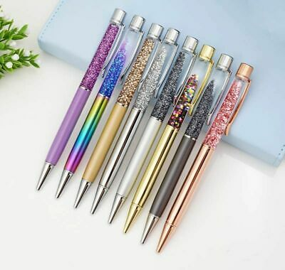 Luxury Ballpoint Flow Oil Crystal Metal Copper High-grade Powder Quicksand Pen