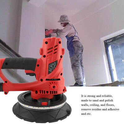 Electric 110V Drywall Sander Tools Polisher Grinding Machine W/ LED Light 1580W
