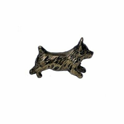 Handcrafted Bronze Norwich Terrier Lapel Pin Dog Jewelry